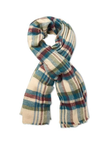 White Stuff Cara Check Midweight Scarf