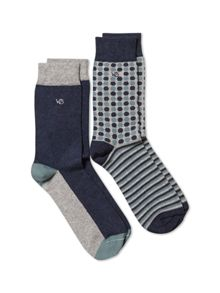 White Stuff Alastair spot sock 2 pack