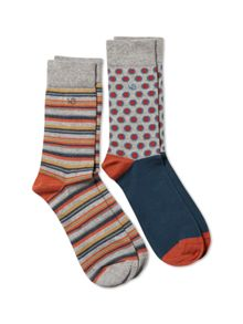 White Stuff Robert spot socks 2 pack