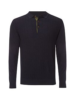 Roulette knitted polo