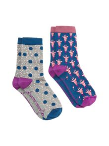 White Stuff Giraffe 2 Pack Sock
