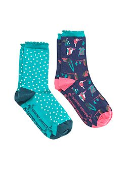 Crazy Bird 2 Pack Sock