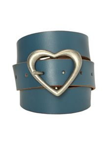 White Stuff Heart Buckle Belt