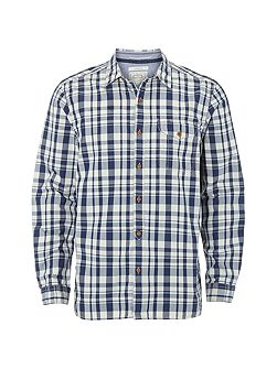 Foundry indigo check shirt