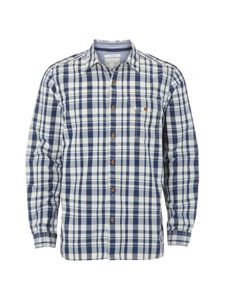White Stuff Foundry indigo check shirt