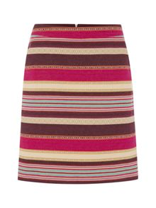 White Stuff Ikat Stripe Skirt