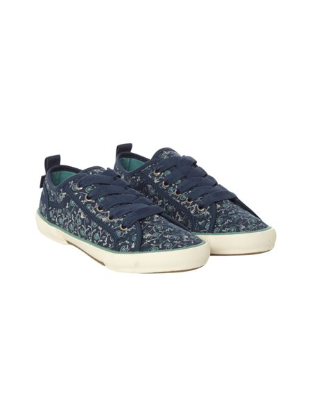 White Stuff Darcy Lace Up Printed Trainer
