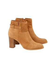 White Stuff Punch Out Ankle Boot