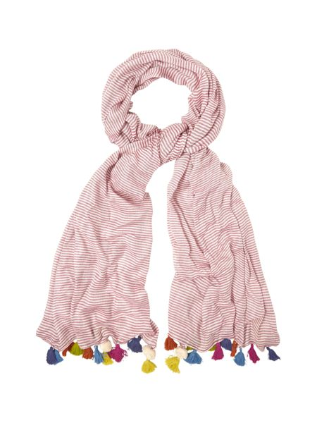 White Stuff Jennifer Stripe Tassel Scarf