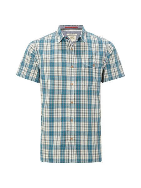 White Stuff Divebomb check ss shirt
