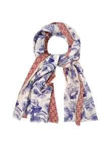 White Stuff Swimming Koi Scarf