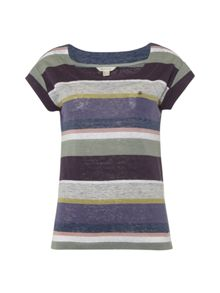 White Stuff Betsy Multi Stripe Tee