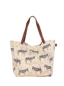 White Stuff SERENGETI CANVAS SHOPPER