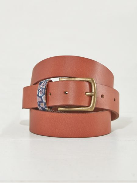 White Stuff Floral Taped Keeper Belt