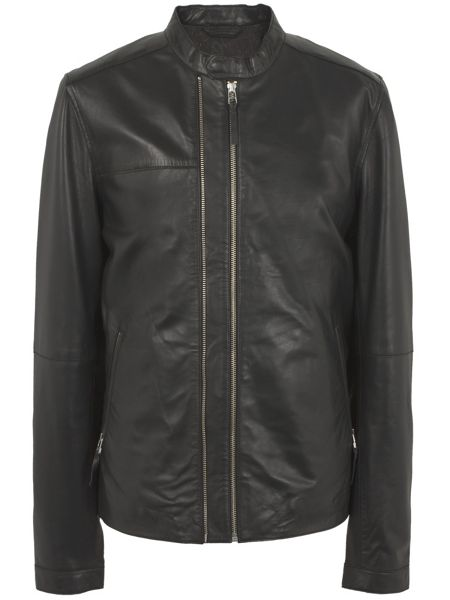 Pretty Green Addison Leather Biker