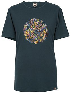 Paisley Logo Crew Neck Regular Fit T-Shirt