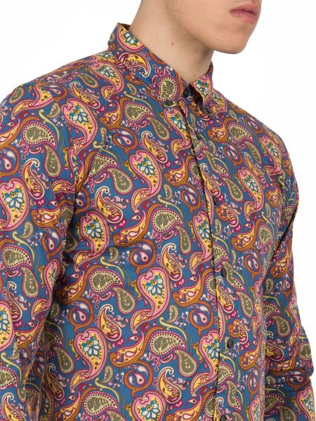 Pretty Green Classic Fit Paisley Cotton Shirt