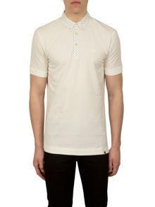 Short Sleeve Geometric Collar Polo