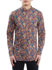 Pretty Green Slim Fit Cotton Paisley Kaftan