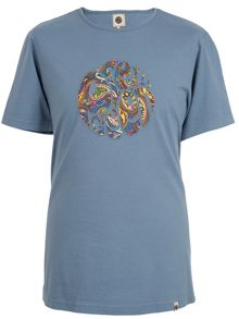 Paisley applique t-shirt