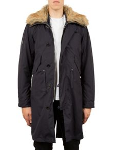 Pretty Green Lansdown faux fur collar parka