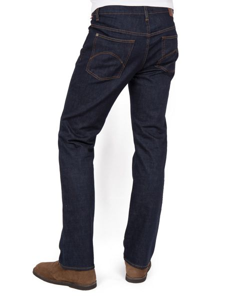 Pretty Green Burnage straight fit rinse washed jeans
