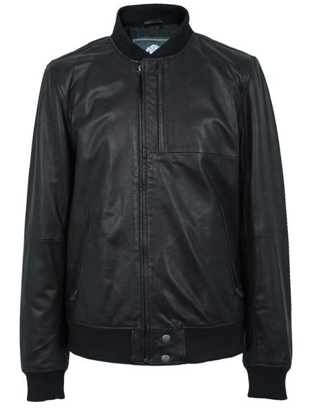 Pretty Green Defiance Leather Jacket