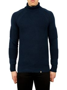 Pretty Green Flaxwood Roll Neck Sweater