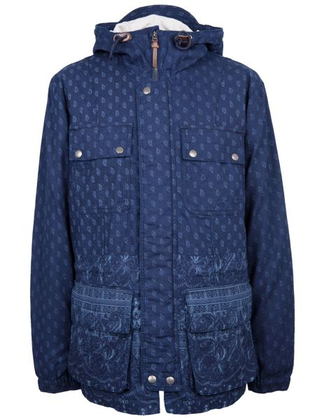 Pretty Green Printed Tarbet Hooded Jacket