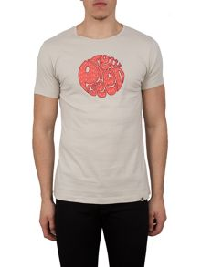 Pretty Green Carver Floral Applique Logo T-Shirt