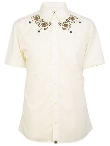 Pretty Green Short sleeve ordsall shirt