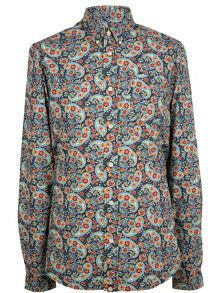 Pretty Green Alvey paisley shirt