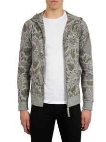 Pretty Green Sawley Leaf Print Hoody