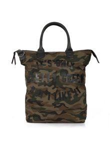 Pretty Green Opg camo tote bag