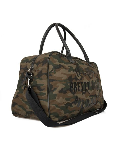 Pretty Green Opg camo weekender holdall