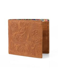 Pretty Green Mens paisley embossed bifold wallet