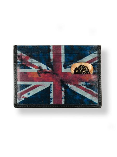 Pretty Green Leather union jack cardholder