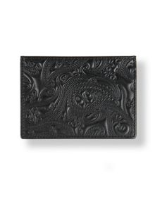 Pretty Green Leather paisley embossed cardholder