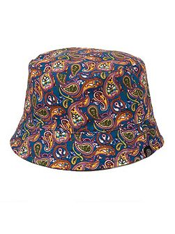 Paisley reversible astan bucket hat
