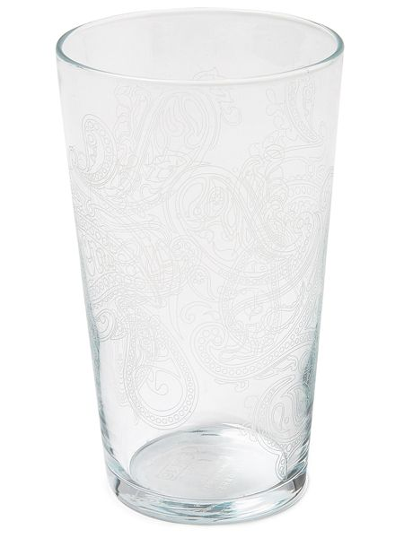 Pretty Green Paisley Pint Glass