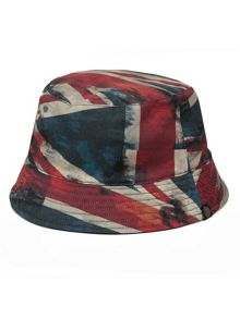 Pretty Green Red union jack reversible bucket hat