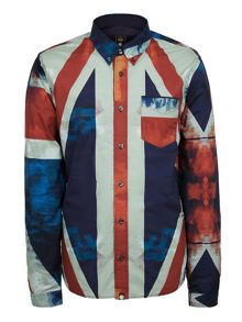 Pretty Green Slim Fit Union Jack Shirt