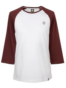 Pretty Green Long Sleeve Elham Raglan T-Shirt
