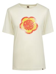Pretty Green Flower Badge T-Shirt