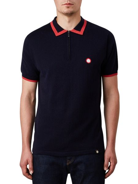 Pretty Green Lowry Zip Knitted Polo