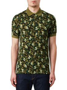 Pretty Green Riley Camo Polo