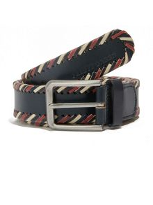 Pretty Green Garby multi-stripe leather belt