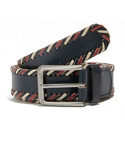 Garby multi-stripe leather belt