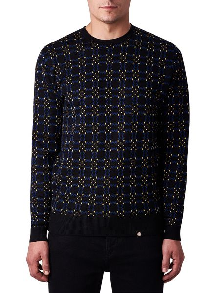 Pretty Green Carville Intarsia Crew Neck Sweater