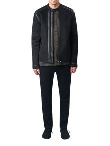 Pretty Green Pelton Borg Biker Jacket